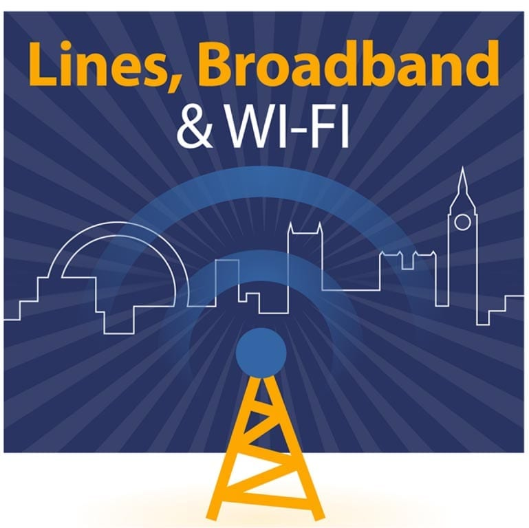 Lines, Broadband and Wifi logo